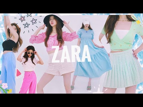 [ZARA Haul] Zara summer sale + wear new clothes to get in the mood for vacation!  (English dubbed)🐬 My Donnaesan ZARA LOOKBOOK 🌻