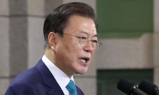 """Presiden Moon """"Tetap buka pintu untuk dialog dengan Jepang… Kita perlu melanjutkan pembagian kerja dan kerja sama"""""""