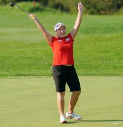 [포토]Hana Jang 'Momen kegembiraan setelah memenangkan kejuaraan'