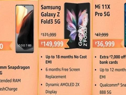 Amazon Great Indian Festival Sale 2021: 최고의 5G 프리미엄 스마트폰 목록에서 할인 제안