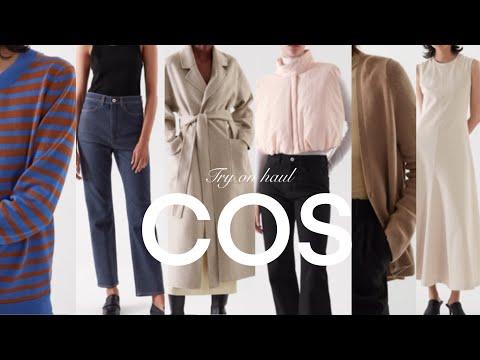 Я примерил 9 новых предметов из ограбления магазина 2021 COS F / W!  Пальто, утеплитель, трикотаж, кардиган, утепленный жилет, ткань, сплошной