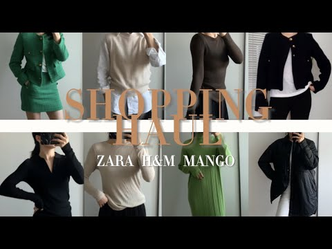 [Hannam-dong Water Yorker] 2021 FW SPA Brand HAUL 🧡 Autumn New Howl ZARA Zara / H&M / MANGO I will show you everything from mango tweed jackets to knits, dresses, and pants 🧡