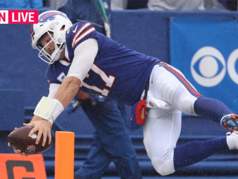 Bills vs. Chiefs 라이브 스코어, 업데이트, NFL 'Sunday Night Football' 경기 하이라이트