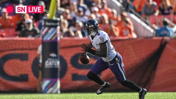 Colts vs. Ravens 실시간 스코어, 업데이트, NFL 'Monday Night Football' 경기 하이라이트