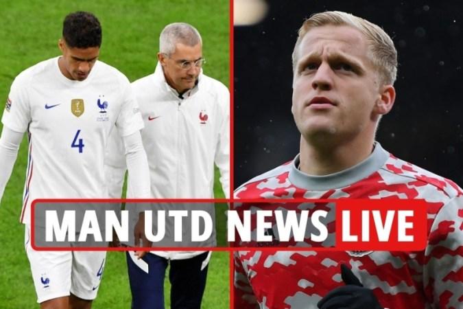 Man Utd news LIVE: 호날두, 국제 해트트릭 달성, Varane 부상 BLOW, Van de Beek에서 유벤투스로 이적